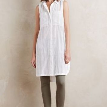 Maeve Gauze Duster Tunic in White Size: