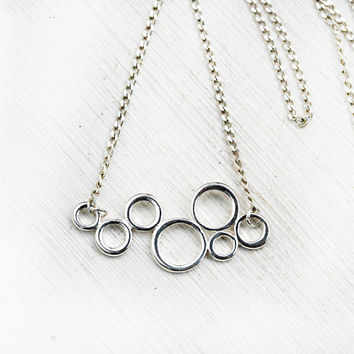 Bubble Necklace, Layering Silver Necklace, Minimalistic Jewelry, Sterling silver, Circle Necklace, Minimalist jewelry, Modern girl