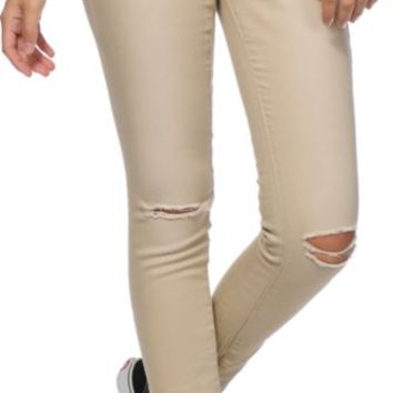 Empyre Logan Nouveau Khaki Destructed Jeggings