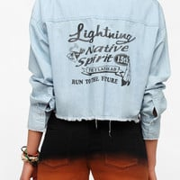 Washborn Lightening Cropped Chambray Shirt