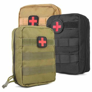 Nylon Tactical System Waist Bag Outdoor Sports Medical Military First Aid Sling Pouch Emergency Bag first aid patch