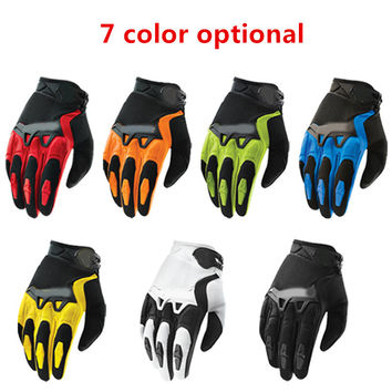 hot sale Fashion New Full Finger Motorcycle Bicycle Gloves Motocross 7 colors size M-XL Moto Protective Gears Glove For Men