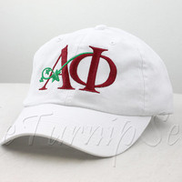 Alpha Phi Sorority Baseball Cap - Leaf Logo