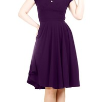 Emilie Dress in Aubergine | Blame Betty