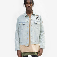 Sand-Blast Light-Wash Denim Jacket