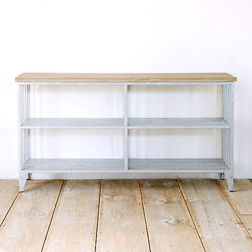 Protected Teak Utility Console