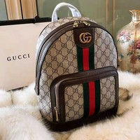 Gucci Trending Women Men Stylish Leather School Bag Shoulder Bag Daypack Backpack