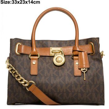MK Women Shopping Bag Leather Satchel Crossbody Handbag Shoulder Bag G-MYJSY-BB