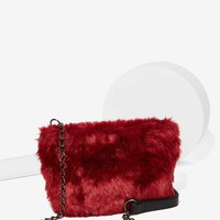Nila Anthony Cruella Faux Fur Crossbody Bag