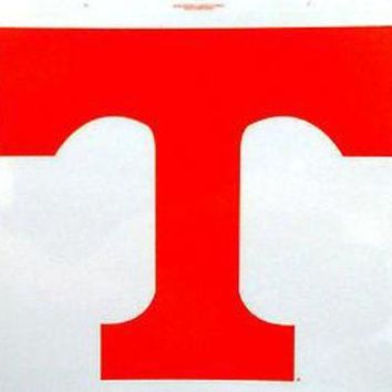 VONE05W5 Tennessee Volunteers Reusable JUMBO Cling Auto Window Static Decal University of