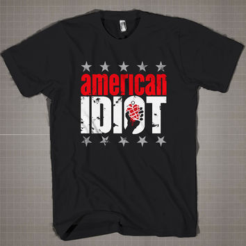 American Idiot-Green Day  Mens and Women T-Shirt Available Color Black And White