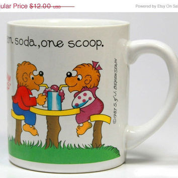 20% OFF SUMMER SALE Berenstain Bears Mug 1987 Collectible Princess House Exclusive