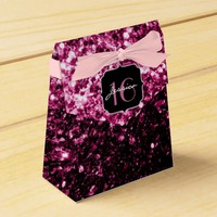Beautiful Pink glitter sparkles Sweet 16 favor box
