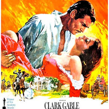 Gone with the Wind Magnificent Movie Poster 11x17