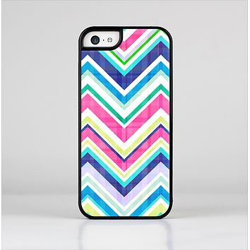 The Vibrant Pink & Blue Layered Chevron Pattern Skin-Sert for the Apple iPhone 5c Skin-Sert Case