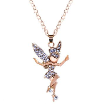 Fashion Jewelry Angel Elf Long Necklace Pendant
