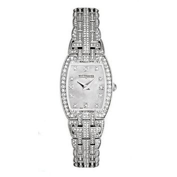 Wittnauer Krystal Collection Women's Mother of Pearl Bracelet Watch 10L102