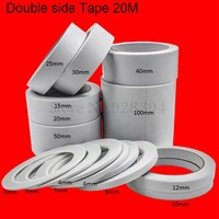 Double Side Adhesive Tape Office Tape School Supplies For DIY Craft 20Meter x 2mm ~100mm