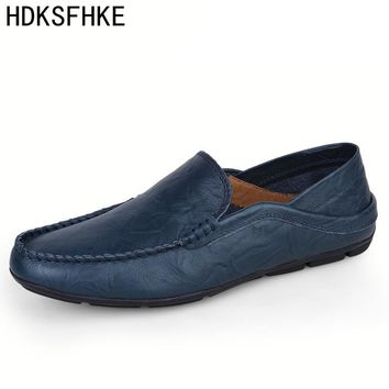 big size 36-47 men casual shoes men fashion brand loafers spring autumn moccasins men genuine leather shoes men's flats shoes