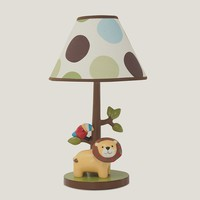 Lambs & Ivy Treetop Buddies Table Lamp (Green/Ivy)