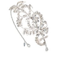 Damask Headdress I Crystal Silver