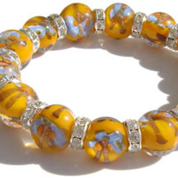 Swarovski Crystal Yellow Butterfly Bracelet
