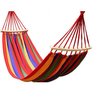 Portable Canvas Parachute Outdoor Single Hammock