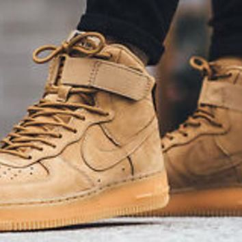 WMNS NIKE AIR FORCE 1 HI PRM 654440-200 Flax Outdoor Green Sneakers FLAX Limited