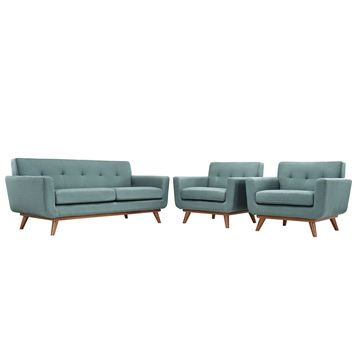 Engage Armchairs and Loveseat Set of 3 by Modway Furniture