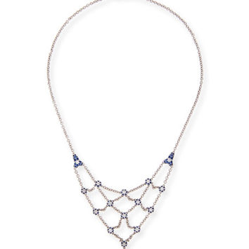 Paul Morelli Small Pipette Necklace with Diamonds & Blue Sapphires