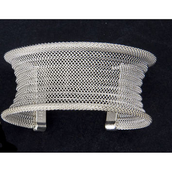Peace Love Bling Fair Trade Mirabella Sterling Mesh Cuff Bracelet