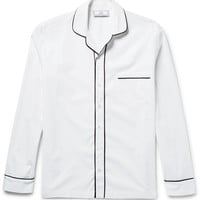 AMI - Contrast-Tipped Cotton Shirt