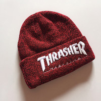 Thrasher Magazine Red Beanie