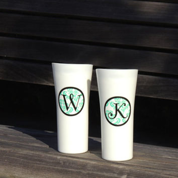 insulated coffee cup, plastic coffee cup, monogrammed cup, stocking stuffer, black tumbler, coffee tumbler, holiday gift, personalized cup