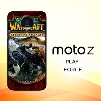 World of Warcraft Guardian Druid Mists of Pandaria Z0652 Motorola Moto Z Force Case