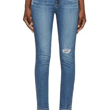 Nobody Denim Blue Distressed Cult Skinny Jeans