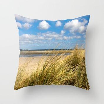 Beach whispers Throw Pillow by Tanja Riedel