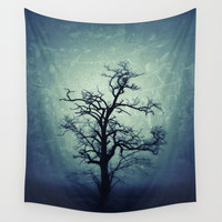 My Darkest Hour In The Night.. Tree Wall Tapestry, Tree Home Decor, Nature Tapestry, Wall Tapestry, Tree Branches, Goth, Noir,Steampunk,Dark