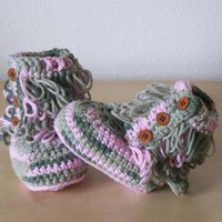 CHEN1ER baby crochet boots, baby winter clothes, ugg style boots, camouflage