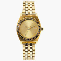 Nixon Small Time Teller Watch All Gold Crystal One Size For Women 25982962101