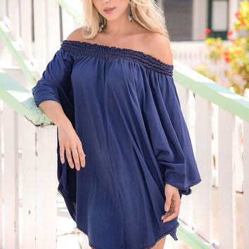 Sassy Off Shoulder Causal Summer Dress-Beach Dress