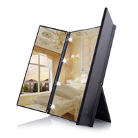 Vanity Folding Make Up Dressing Mirror with 8 LED Lights