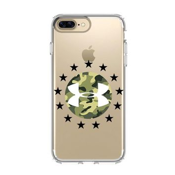 UNDER ARMOUR CAMO iPhone 4/4S 5/5S/SE 5C 6/6S 7 8 Plus X Clear Case