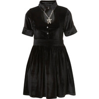 **Skeleton Charm Independent Collar Dress by Sister Jane