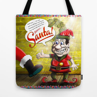 Here's Santa! Tote Bag by Peter Gross