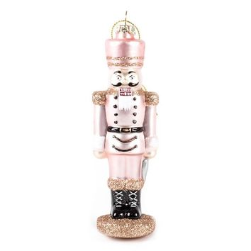 Rose Gold Nutcracker Ornament