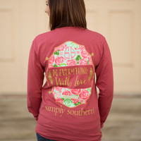Simply Southern Long Sleeve With Love Tee