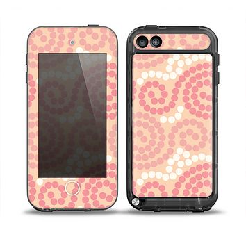 The Pink Spiral Polka Dots Skin for the iPod Touch 5th Generation frē LifeProof Case