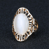 New Hot Vintage Retro Lady Hollow Out Gold Ring Womens Fashion Casual Jewelry Unique Best Gift Girl Rings-37