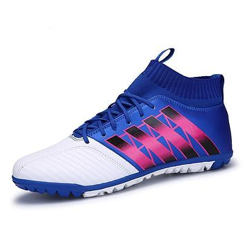 Men Sock Soccer Shoes Non-Slip Outdoor Futsal Sneakers Teenagers Turf Cleats Football Boots Superfly Men Sport Trainers